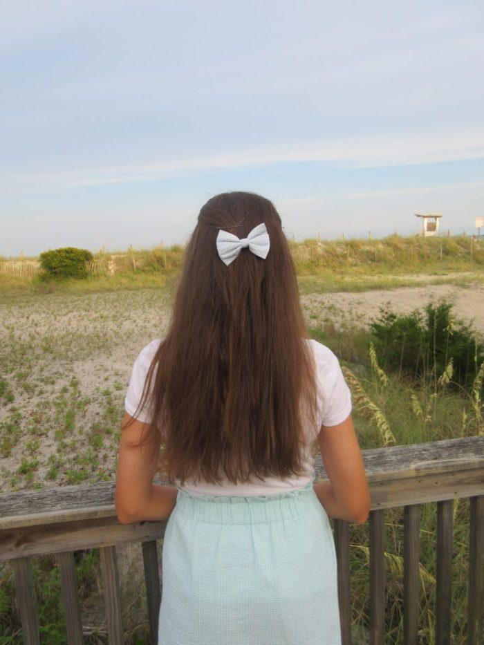 Lauren James Seersucker Hair Bow