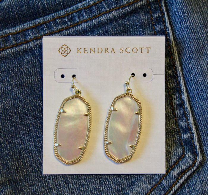 Kendra Scott Ivory Mother of Pearl Elle Earrings