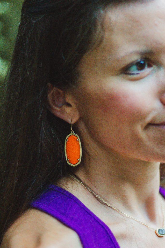 Kendra Scott Elle Earrings Orange