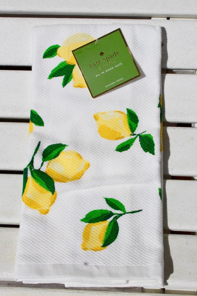 Kate Spade Lemon Kitchen Towel
