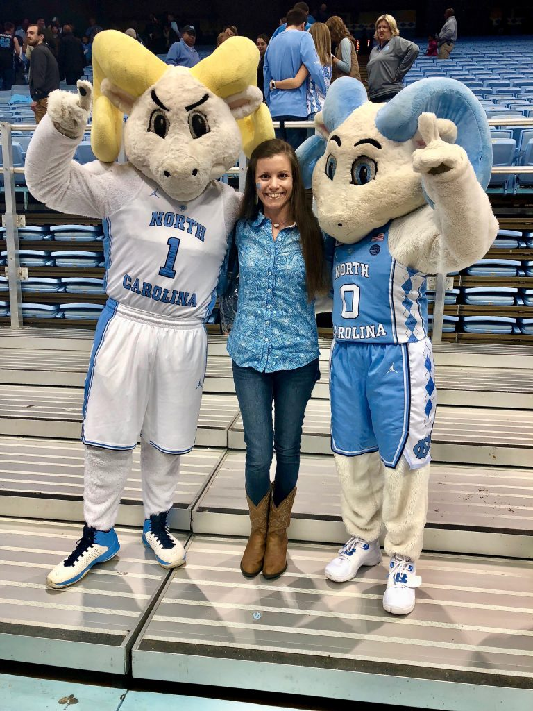 Rameses and RJ at UNC Basketball Game