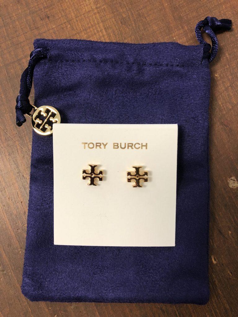 Tory Burch Logo Stud Earrings