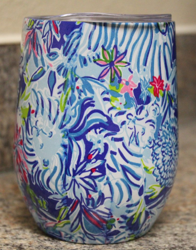 Lilly Pulitzer Coastal Blue Lion Around Tumbler