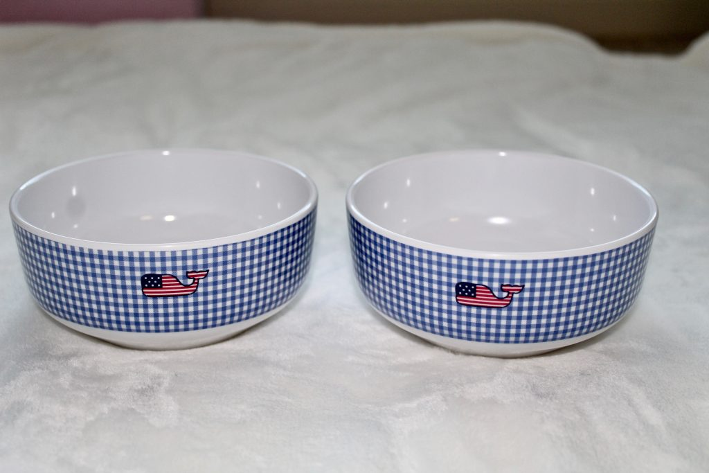 Vineyard Vines for Target Gingham Whale Bowls