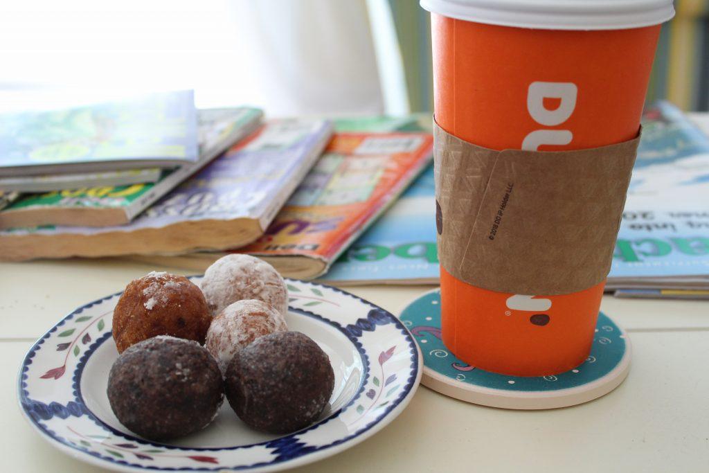 Dunkin' Munchkins and Latte