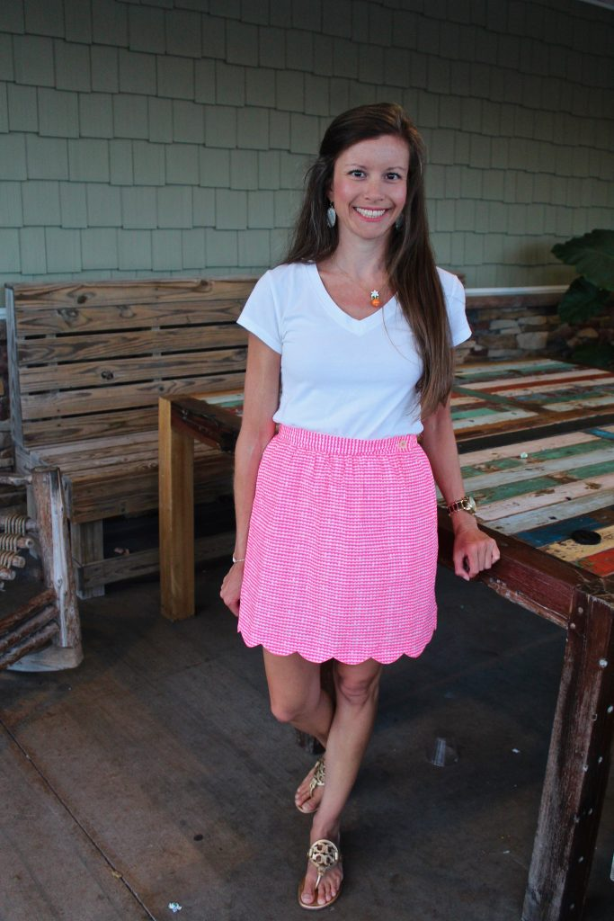 Lilly Pulitzer Hot Pink Gingham Skirt