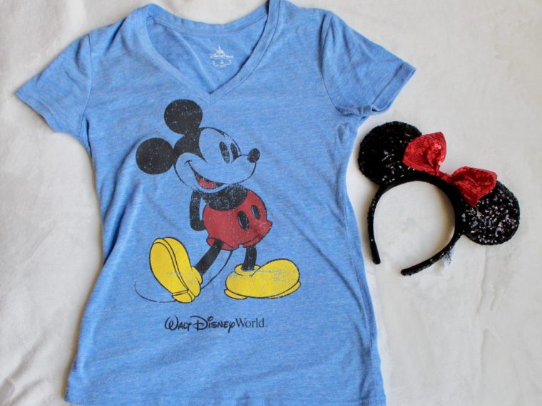 Disney World Mickey Mouse V-Neck Shirt