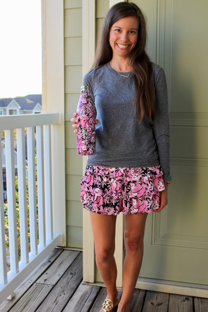 Lilly Pulitzer Luxletic Skort Hangin' with My Boo