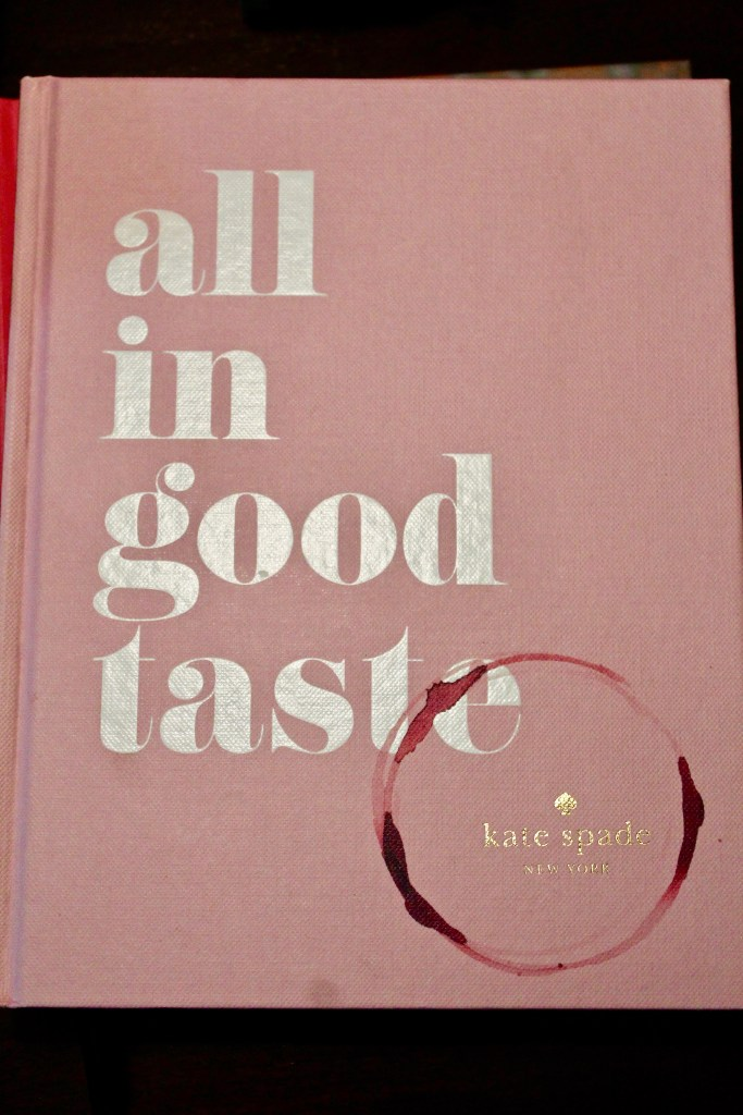 Kate Spade Coffee Table Book All in Good Taste