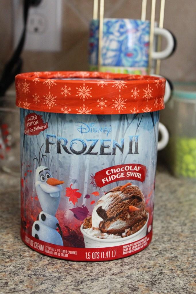 Edy's ChocOLAF Swirl Ice Cream