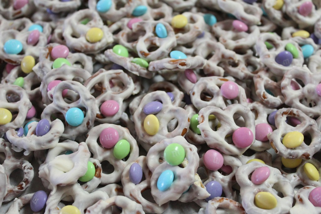 candy coated m&m pretzels
