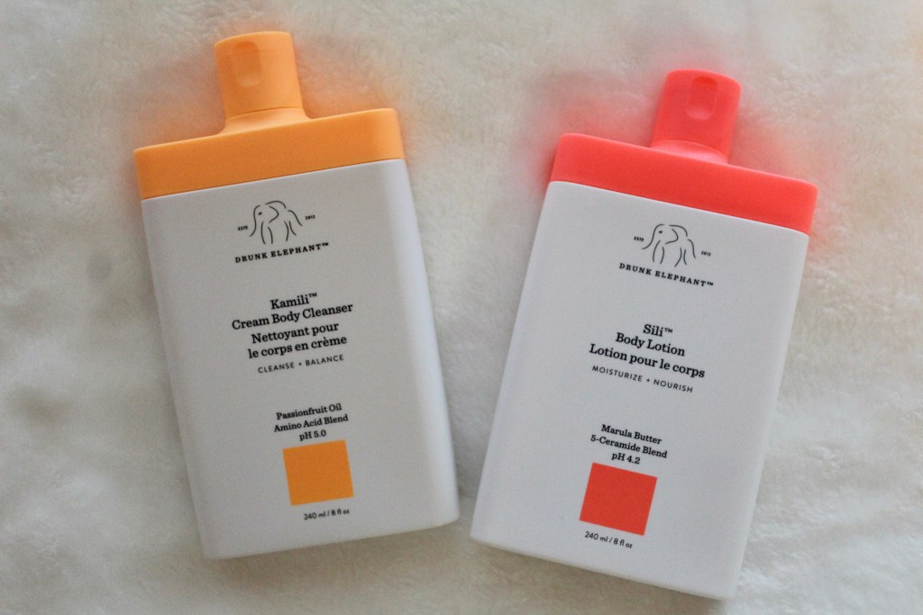 Drunk Elephant Cream Body Cleanser and Body Lotion