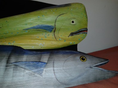 Palm Frond Artwork by Dale Werner Mahi Mahi & Wahoo Fish