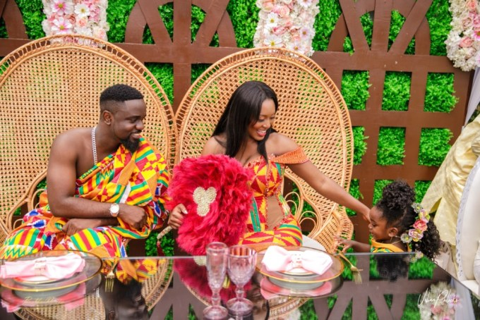 Ghanaian Rapper Sarkodie and Tracy wedding