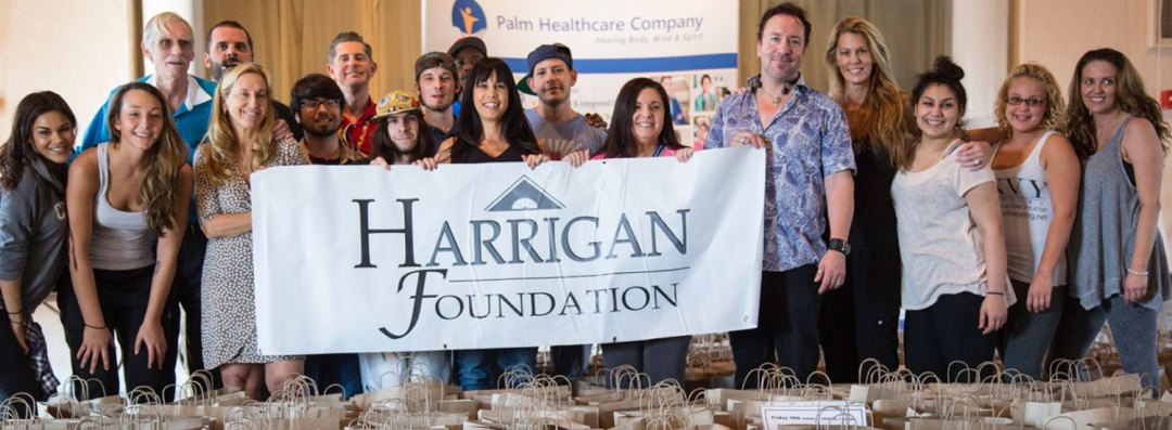 Group participating in Thanksgiving Basket Brigade for Harrigan Foundation