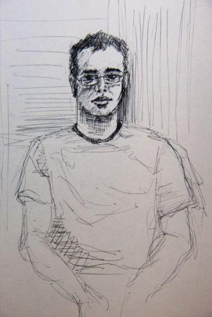 Retrato de Oscar a rotring