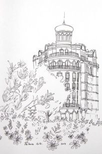 Rincones de Madrid en dibujo. Drawing corners of Madrid.