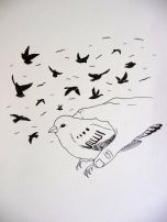 Pájaro en mano