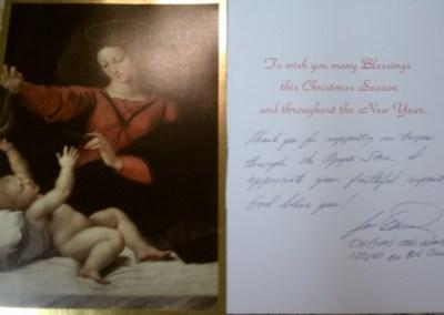 Christmas Card – Cpt. Ward