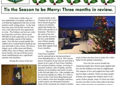 News Letter Dec 2010 – Task Force Gambler
