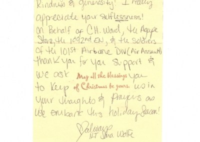 Thank You from Lt. Wolfe
