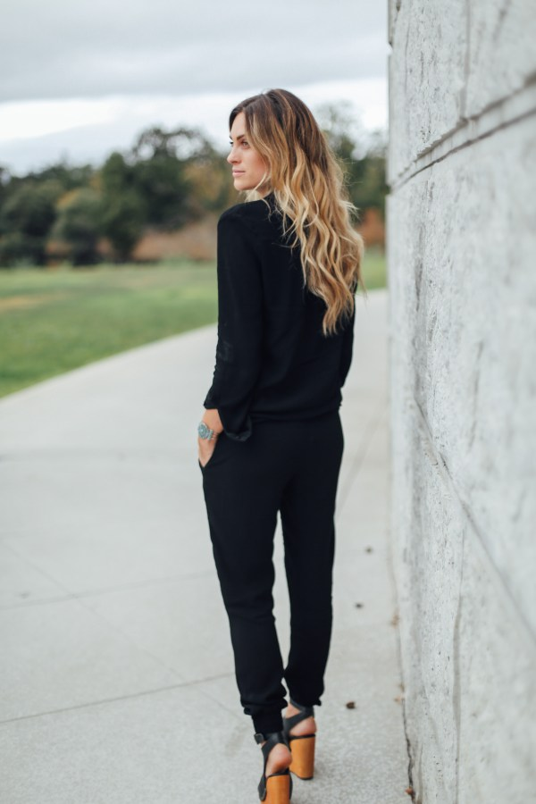 Monrow Black Jumpsuit | Palms to Pines