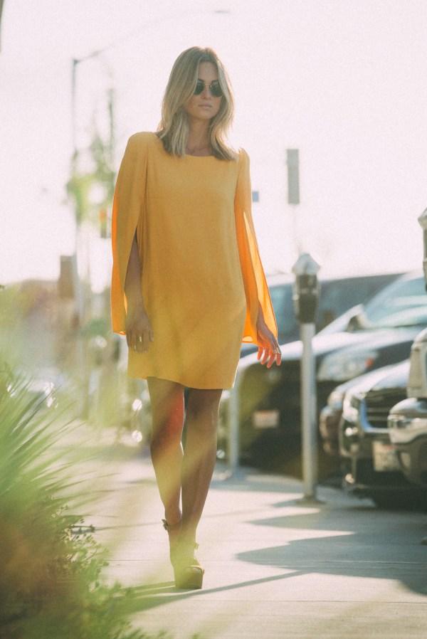 Free People Split Sleeve Cape Dress | Palms to Pines