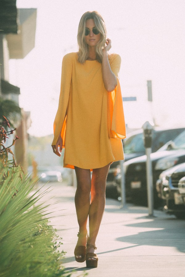 Free People Split Sleeve Cape Dress | Palms to Pines