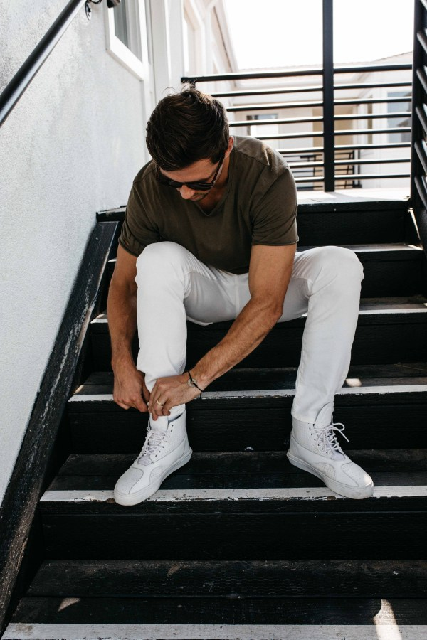 Mott & Bow | Men's White Jeans | Palms to Pines