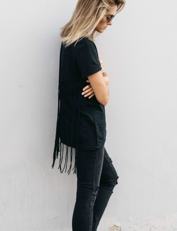 all black outfit | palms to pines