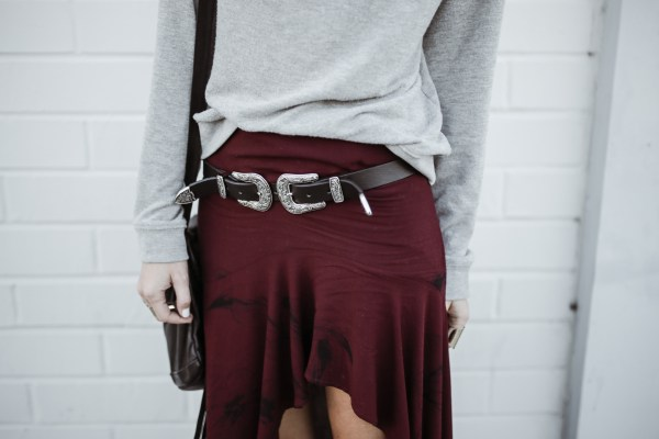 Stillwater Skirt | Double Buckle Belt