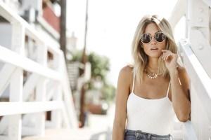 Jen Hawkins wears fashion brand Delacy | Palms to Pines fashion blog