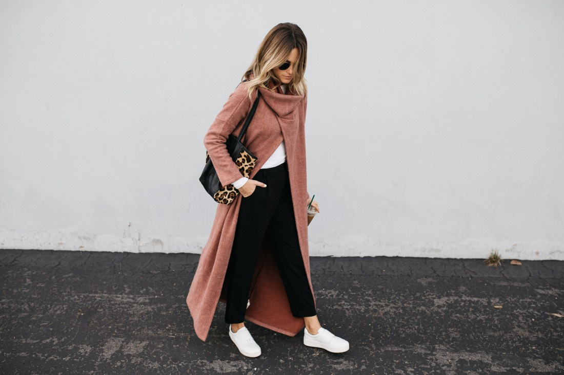 Free people coat and street style by Jen Hawkins on Palms to Pines style blog