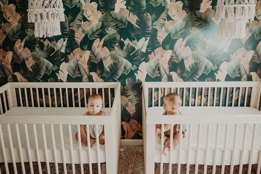 Melissa Gayle Photography | Palms to Pines | Romy and Piper Twin Girl Nursery