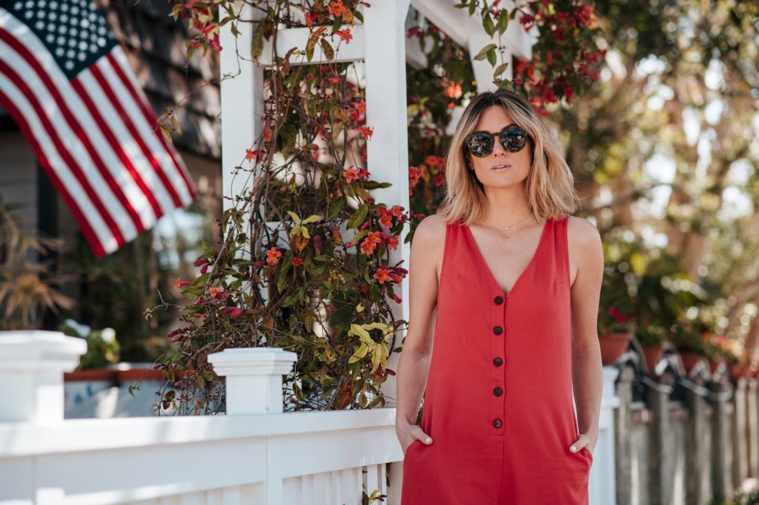 Fast and Free Shipping | Shopbop | Knot Sisters | Coral Jumpsuit