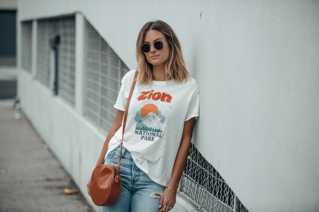White Booties | Matisse | Graphic Tee
