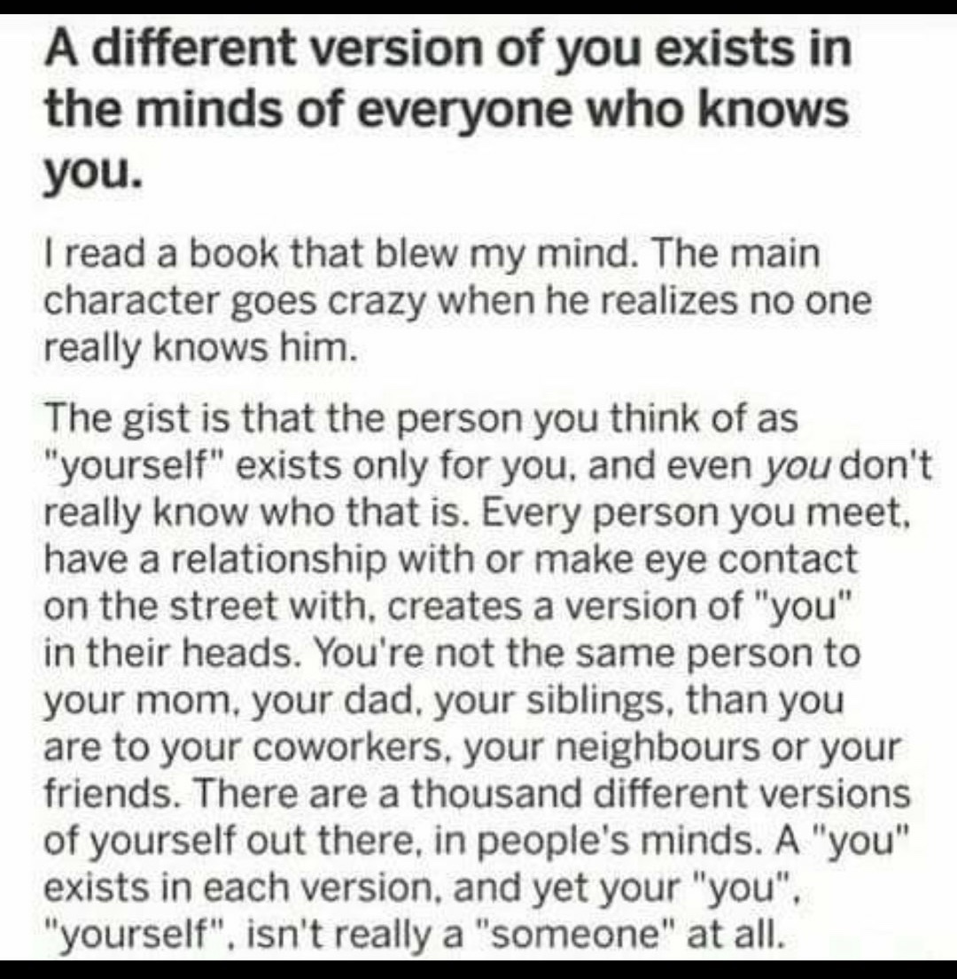 a different version of you exists