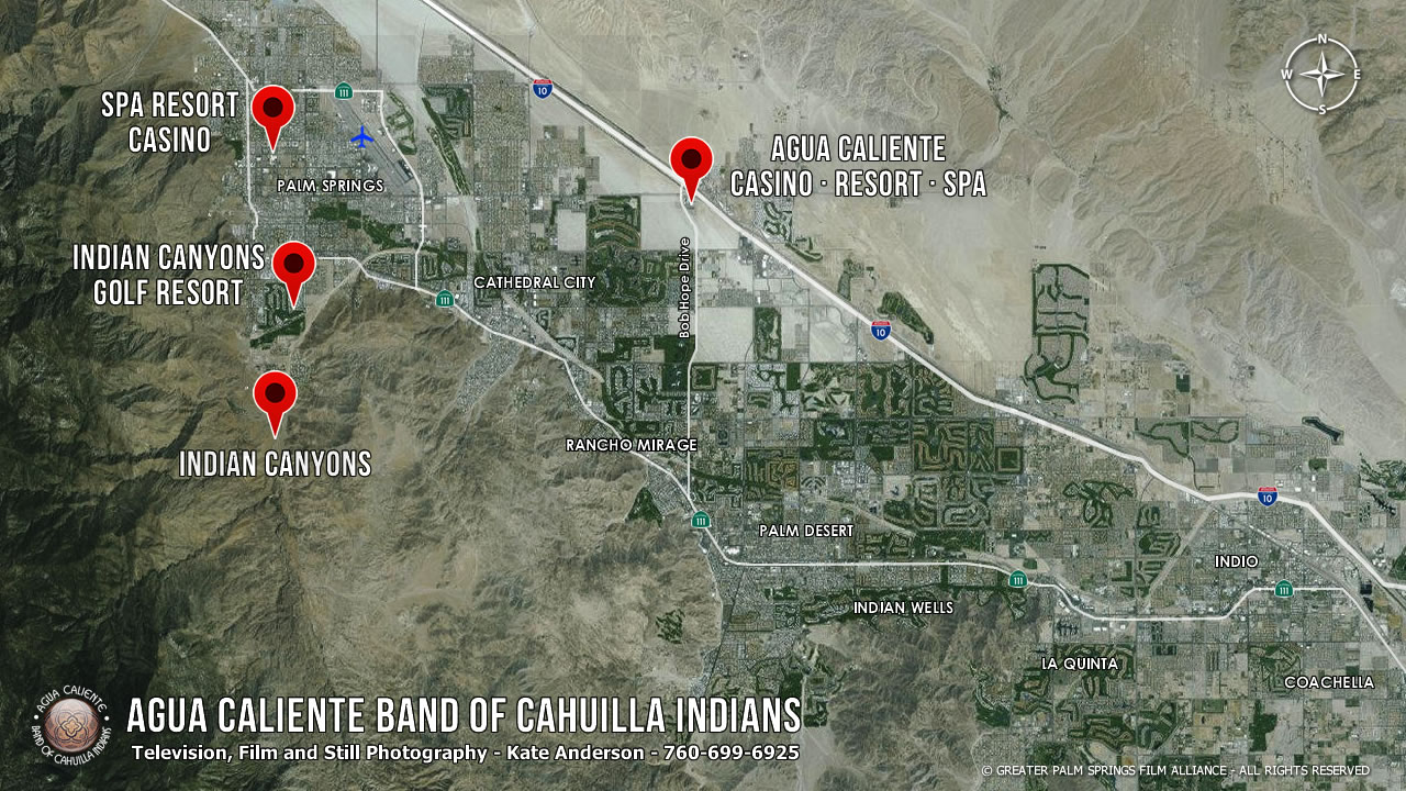 Palm Springs Indian Reservation Map