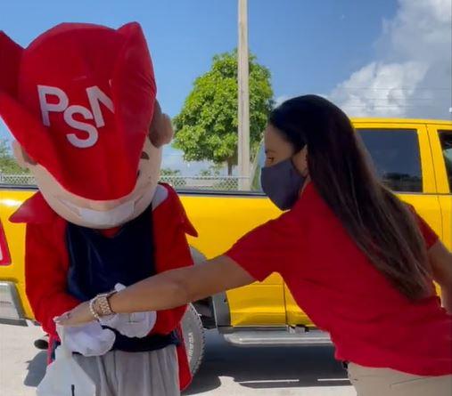 mascot and principal