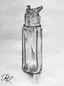 Water Bottle sketch to get people to watch the video of me sketching on You Tube