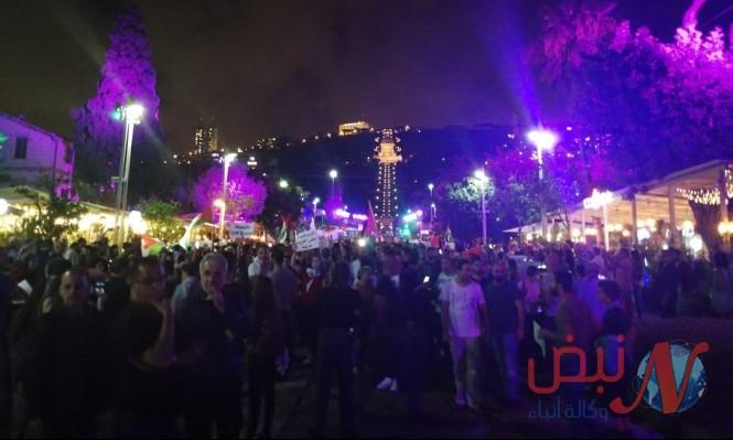 حيفا: المئات في تظاهرة الغضب مع غزة