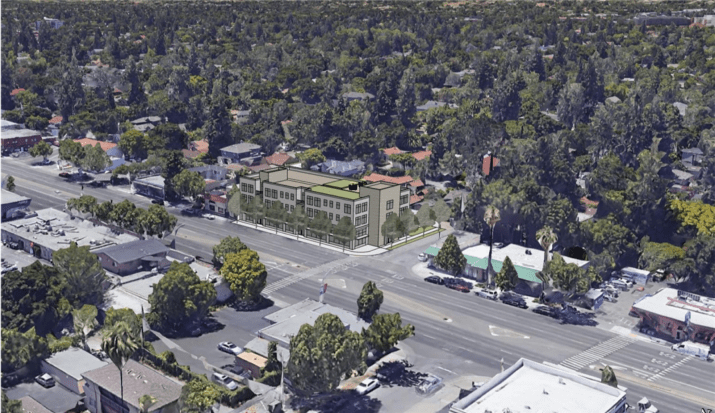 Massing concept for 1.5 FAR project on El Camino Real