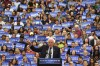 Sanders addresses his supporters in&nbsp;State College, PA. (Ricky Carioti/The Washington Post)</p>