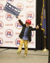 Five-year-old Axel Kiska waits for election results at the Riverside Hotel in Boise, Idaho, last night. (AP Photo/Otto Kitsinger)</p>
