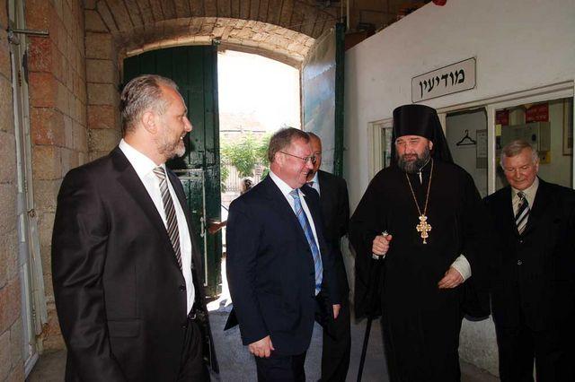 Председатель ИППО С.В.Степашин прибыл на Сергиевское подворье в Иерусалиме. © Иерусалимское отделение ИППО