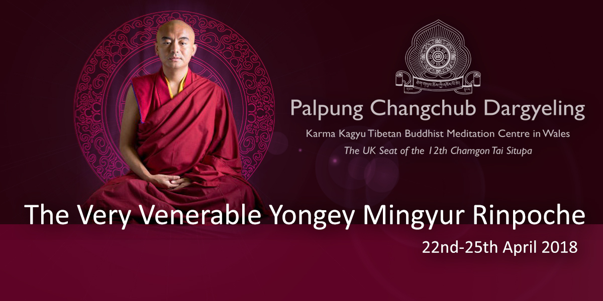 The Very Venerable Yongey Mingyur Rinpoche at Palpung Wales 2018