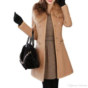 womens-wool-blends-overcoat-fur-colar