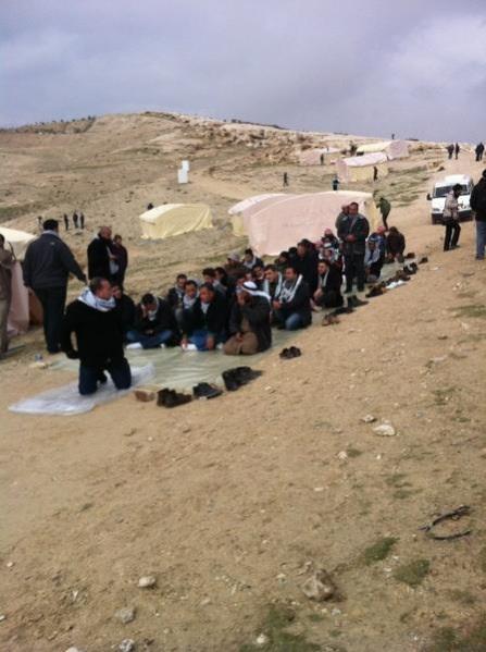 prayer in Bab AlShams