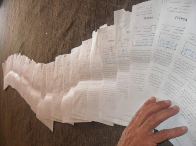Original copies of all the demolition orders served today (Photo by ISM)