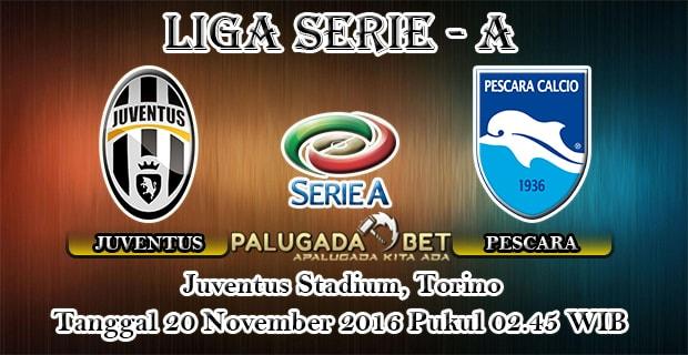 Prediksi Juventus vs Pescara (Liga Italia) 20 November 2016 - PLG